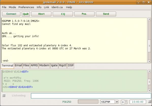 Screenshot jpskmail 2 0 3