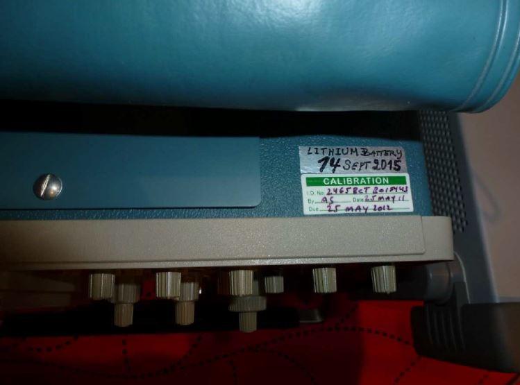 Tek2465bct memory cal