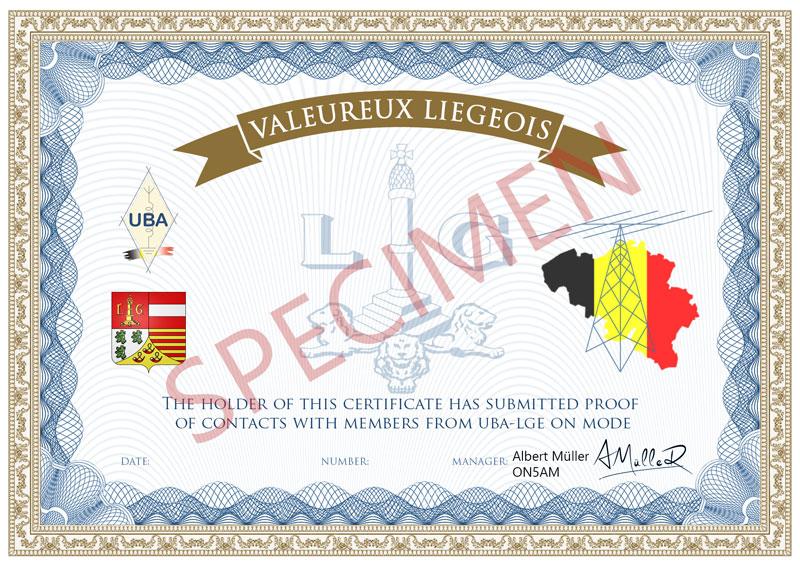 Valeureux liegeois specimen 800